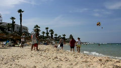 Beach in Sousse, Tunisia - stock footage