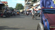 Stock Video Footage of CAMBODIA-CYCLO-PASSENGER 1