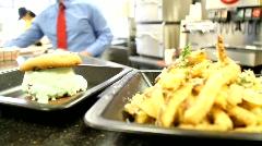 Fast Food Restaurant Stock Footage