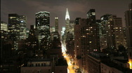 Stock Video Footage of NYC Skyline Timelapse Night