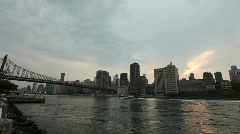 NYC Skyline Timelapse Day to Night Stock Footage