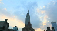 Empire State Building Day to Night Time Lapse Stock Footage