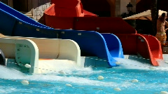 Aquapark - stock footage