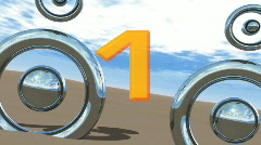 Chart Countdown '5 - 1' Stock Footage