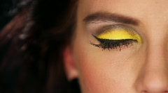 Eyes of sexy woman with outstanding makeup Stock Footage