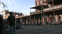 Parked Harleys Stock Footage