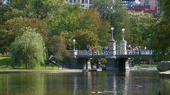 Boston: Public Garden Stock Footage