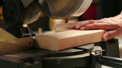 Miter saw cutting a 2x4 Stock Footage