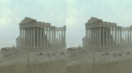 Stereographic Acropolis Stock Footage