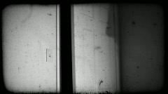 Film noir listens to radio old film Stock Footage