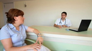 Doctor and his patient Stock Footage