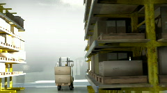 Forklift warehouse Stock Footage
