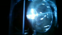 flasher rotates rapidly in dark and emits bright light - stock footage