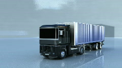 Lorry drive away 2 Stock Footage