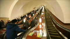 Moscow Metro - number one metro in world Stock Footage