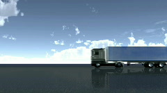 Lorry driving Stock Footage
