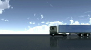 Stock Video Footage of lorry driving