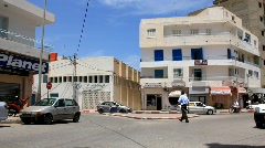 Traffic centre in Sousse, Tunisia - stock footage