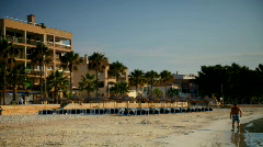 Port beach barcelona spain urban coast Stock Footage