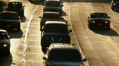 Traffic 01: Rush Hour real time - stock footage