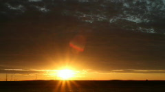 Brilliant Dawn beneath Clouds Time Lapse - stock footage