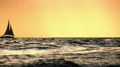 Sunset Life on Ocean - stock footage