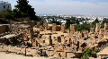 Ruins of ancient Carthage in Tunisia HD Footage