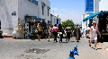 Marketplace in Sidi Bou Said, Tunisia Footage