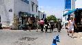 Marketplace in Sidi Bou Said, Tunisia Footage