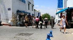 Marketplace in Sidi Bou Said, Tunisia Stock Footage