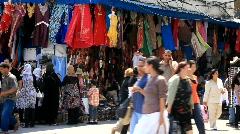 Oriental bazaar in Tunis Stock Footage