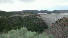 Flaming Gorge Dam Power Pland HD Stock Footage