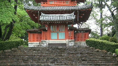Pagoda At Japanese Zen Temple Stock Footage