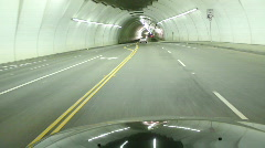 Downtown Los Angeles 2nd Street Tunnel Stock Footage