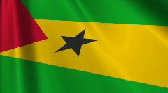 Sao Tomea And Principe Flag Loop 03 Stock Footage