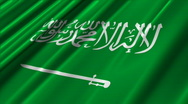 Stock Video Footage of Saudi Arabia Flag Loop 02