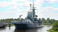USS North Carolina 1739 Stock Footage