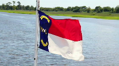 North Carolina Flag 1742 Stock Footage