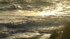 Waves in sunset Stock Footage