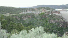 Flaming Gorge Dam and Power Plant Pan HD Stock Footage