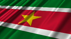 Suriname Flag Loop 02 Stock Footage
