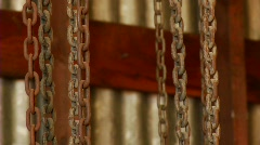 Prisoner in chains - stock footage