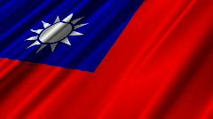 Taiwan Flag Loop 02 Stock Footage