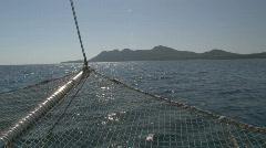 Island sailing Stock Footage