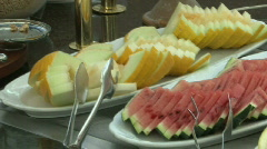 Fruit plates Stock Footage