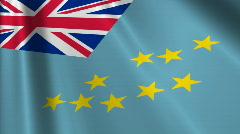 Tuvalu Flag Loop 03 Stock Footage