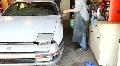 Home auto paint job HD Footage