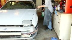 Home auto paint job Stock Footage