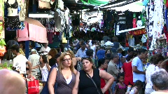 Hacarmel market in Tel Aviv, Israel Stock Footage