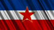 Stock Video Footage of Yugoslavia Flag Loop 01